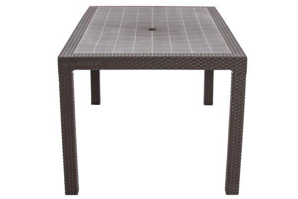 Stół ogrodowy plastikowy MELODY - brązowy