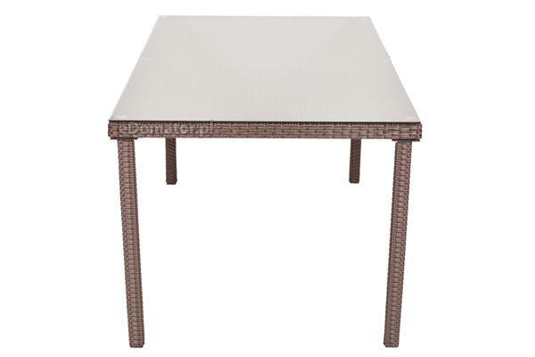 Stół ogrodowy z technorattanu MALAGA - brązowy