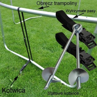 TRAMPOLINA OGRODOWA z siatką o średnicy 312 cm 10 FT