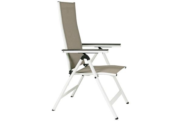 WYPRZEDAŻ - Krzesło ogrodowe VERONA VETRO - białe