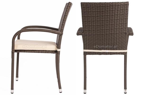 WYPRZEDAŻ - Krzesło ogrodowe z technorattanu MALAGA - brązowe