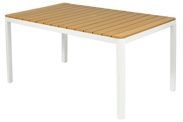 WYPRZEDAŻ - Stół ogrodowy aluminiowy VERONA LEGNO - biały