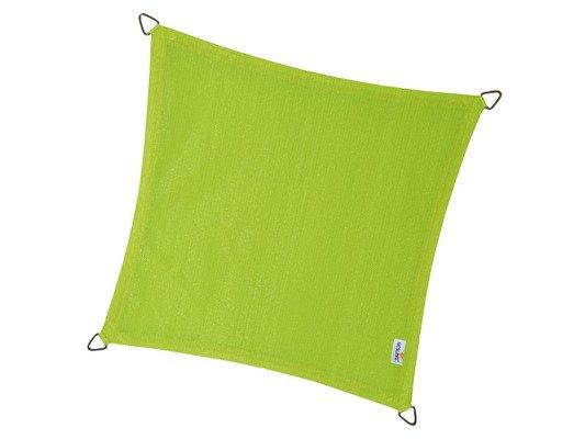 Żagiel przeciwsłoneczny COOLFIT kwadrat 5,0 x 5,0 x 5,0 x 5,0 m - Limonka