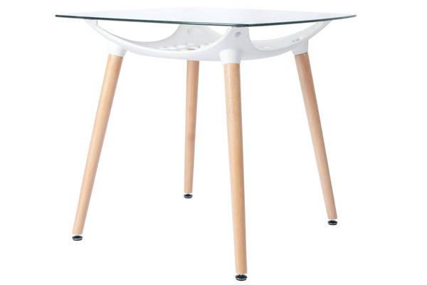 Zestaw 4-osobowy do kuchni - stół kwadratowy LUNA i 4 krzesła NICEA