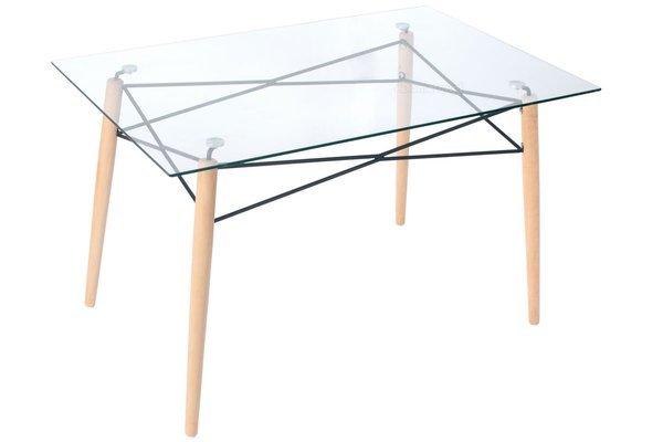 Zestaw mebli do jadalni stół 120 cm LUNA i 6 krzeseł IMPERIA