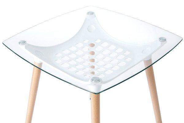 Zestaw mebli do kuchni dla 4 osób - stół kwadratowy LUNA i 4 krzesła GALA