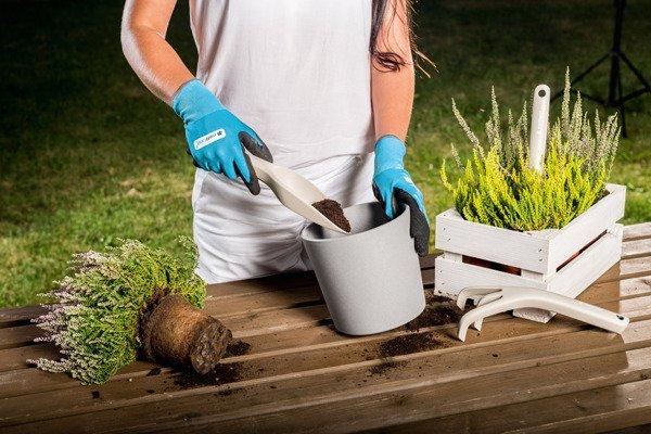Zestaw narzędzi ogrodowych PASTEL ERGO - beżowy