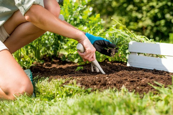 Zestaw narzędzi ogrodowych PASTEL ERGO - błękitny