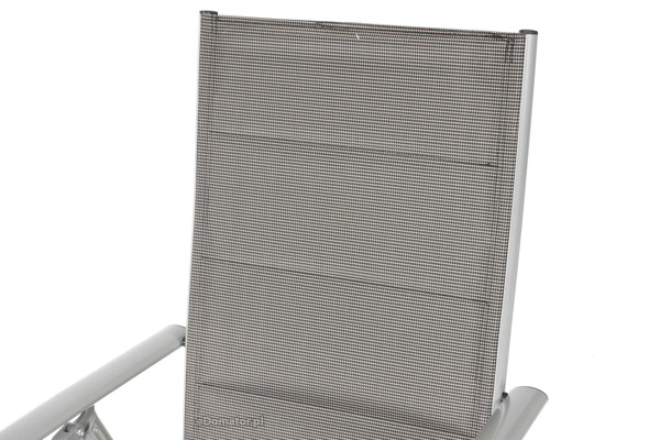 Zestaw ogrodowy aluminiowy MODENA Stół i 6 krzeseł - Srebrny